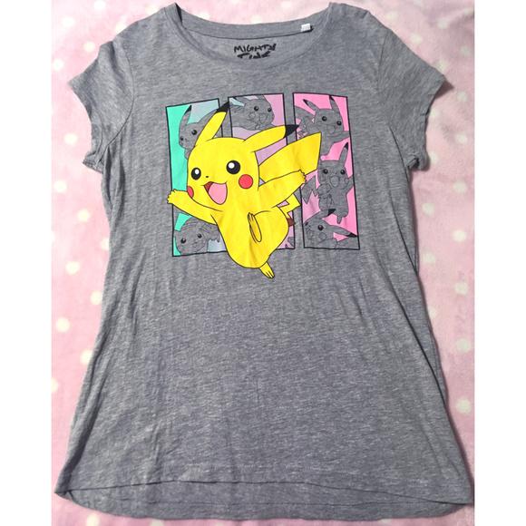 9353f40f Mighty Fine Tops   Pokemon Pikachu Womensjuniors Pastel Babydoll Tee ...